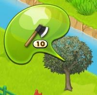 星の島のにゃんこ リンゴの枯れ木