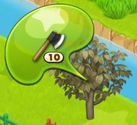 星の島のにゃんこ カカオの枯れ木